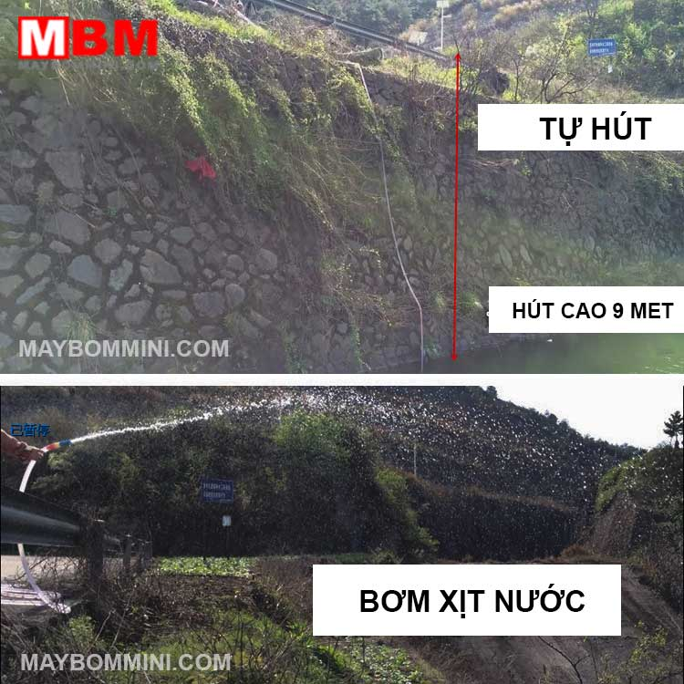 May Bom Nuoc Mini Tu Hut