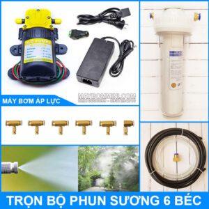 Bo Phun Suong Tuoi Lan Lam Mat 12V 30W 6 Bec