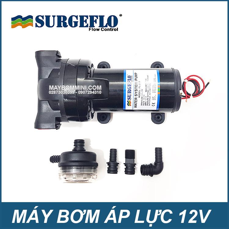 Bom Nuoc Mini Ap Luc SURGEFLO 12V FL200