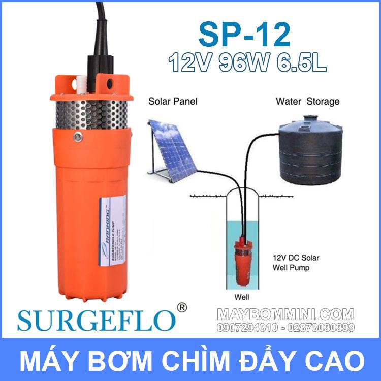 Bom Nuoc Nang Luong Mat Troi 12v SURGEFLO