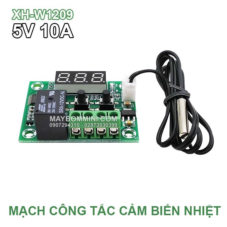 Mach Cong Tat Cam Bien Nhiet Do 5V XH W1209