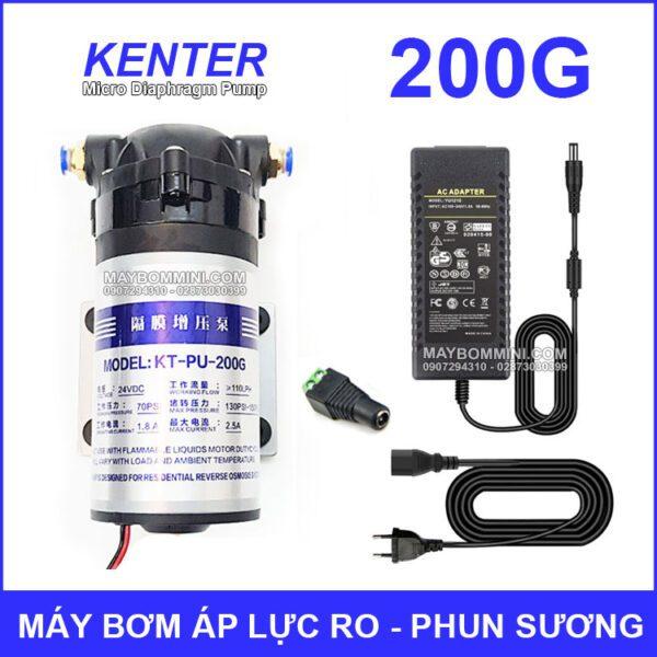 May Bom Ap Luc 24V Phun Suong RO 200G Kem Nguon