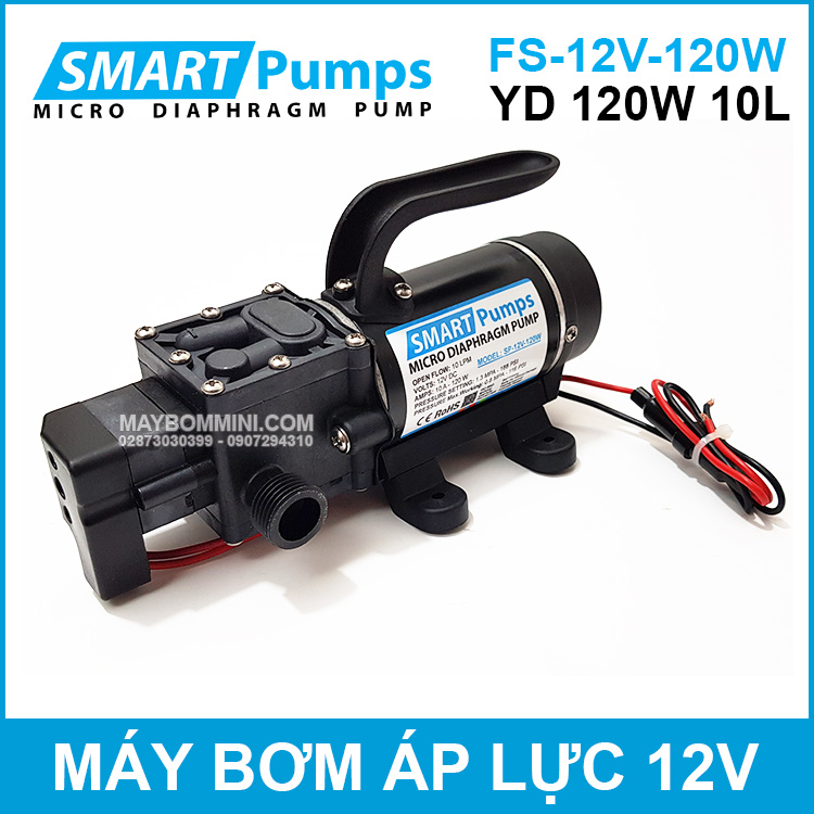 May Bom Ap Luc Mini Smarpumps 12V 120W FS YD