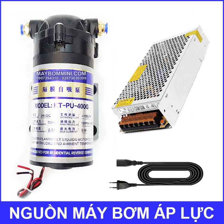 May Bom Ap Luc Phun Suong Va Loc Nuoc RO 400G Nguon To Ong