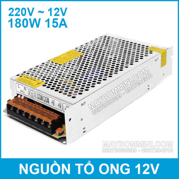 Nguon To Ong 12V 15A 180W