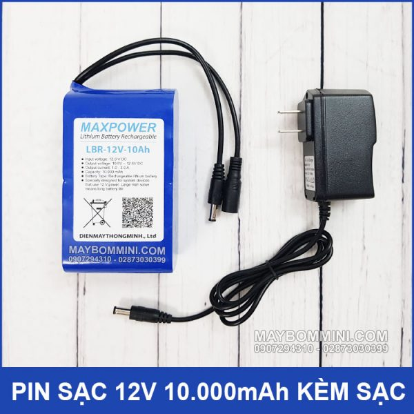 Pin Sac 12v 10ah Kem Sac Pin