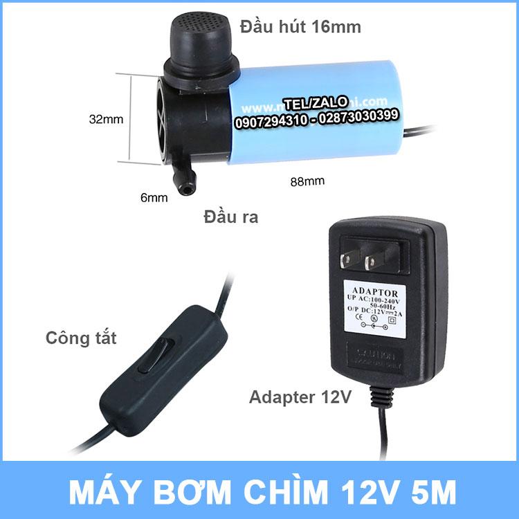 Bo May Bom Chim Mini 12v 4l