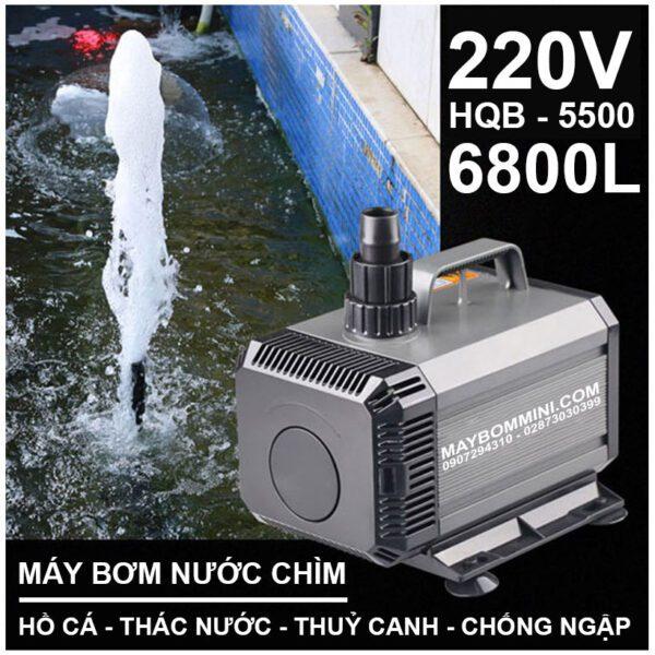 Bom Nuoc Ho Ca Thac Nuoc Chong Ngap 220v HQB 5500