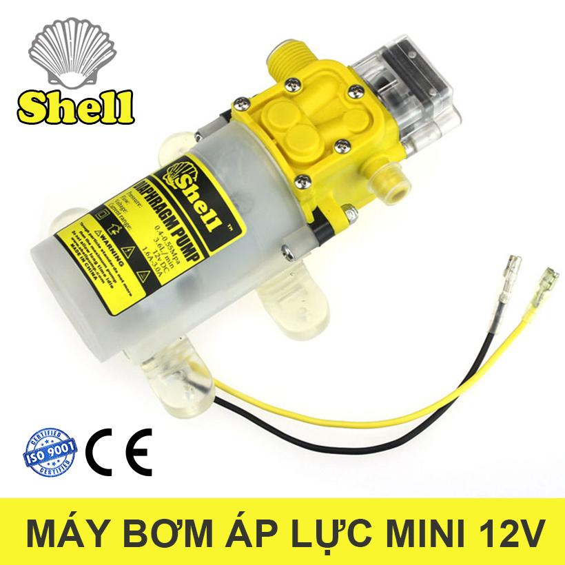 Bom Nuoc Mini 12v Rua Xe Shell