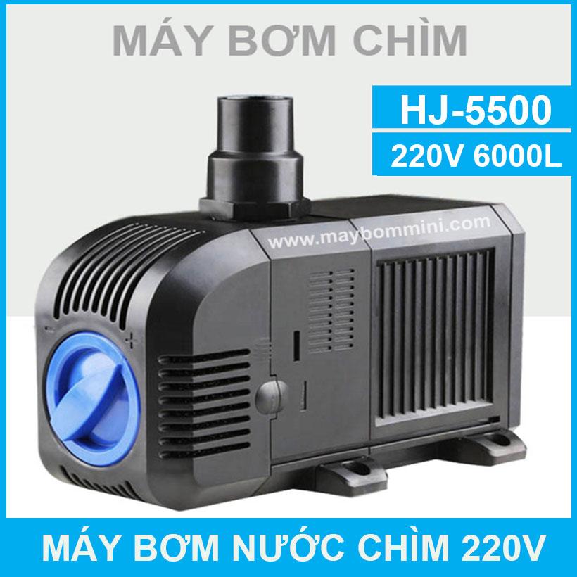 Bom Nuoc Ngap Nuoc Thai Ho Ca 220V HJ 5500