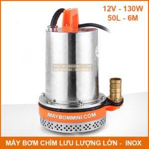 May Bom Chim 12v 130w 50l Inox