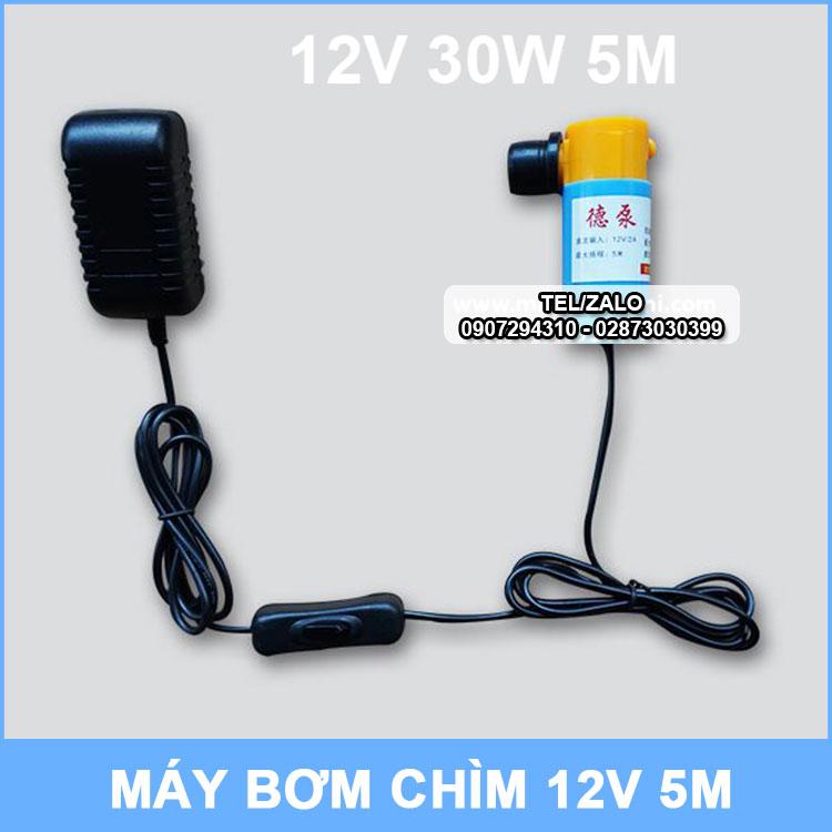 May Bom Chim 12v Kem Nguon Dien
