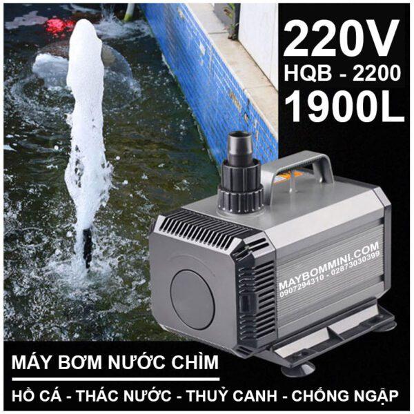 May Bom Nuoc Chim 220V HQB 2200