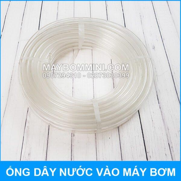 Ong Day Nuoc Vao May Bom Mini