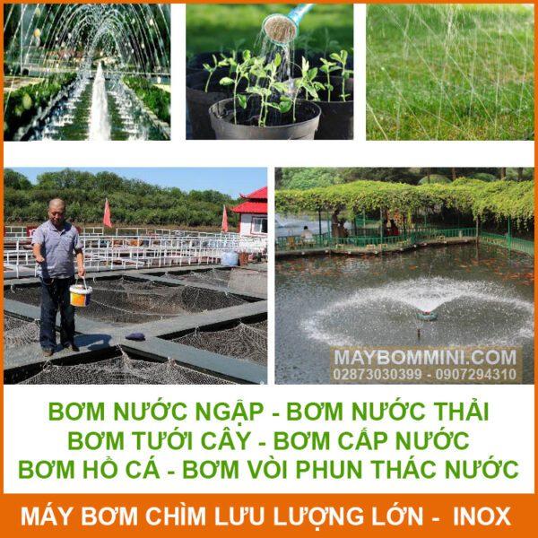 Su Dung Bom Nuoc Luu Luong Lon