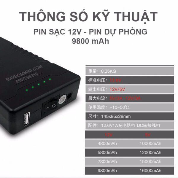 Thong So Ky Thuat Pin Sac 12v
