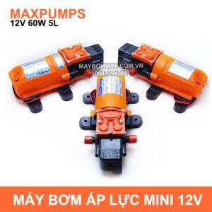 May Bom Mini Ap Luc 12v 60w Maxpumps