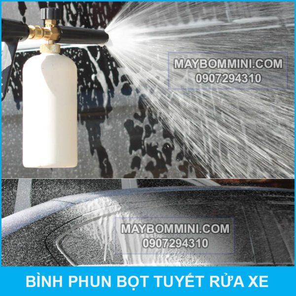 Su Dung Binh Phun Bot Tuyet
