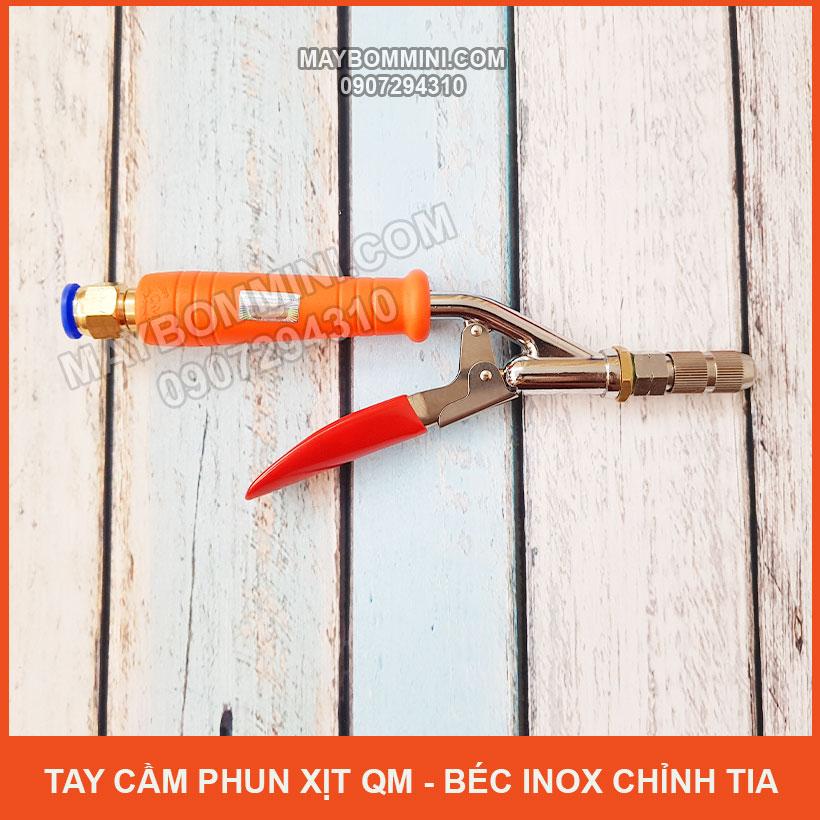 Tay Cam Phun Xit QM Bec Inox Chinh Tia