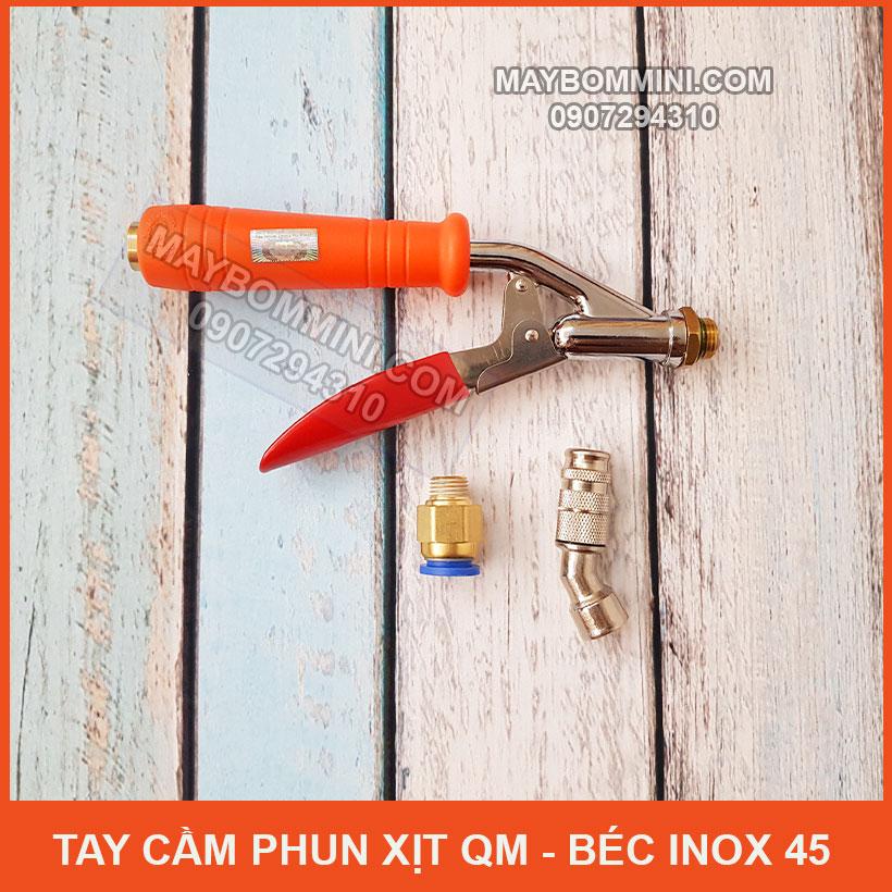 Tay Cam Phun Xit Ve Sinh May Lanh QM Bec Inox 45
