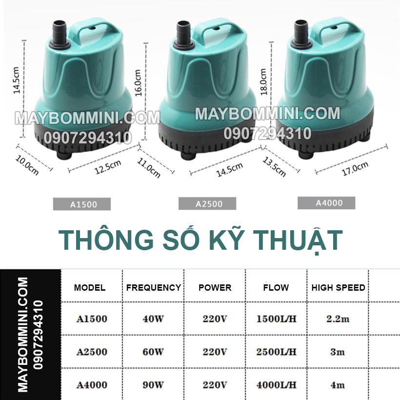 Thong So Ky Thuat May Bom Nuoc Chim 220V EB