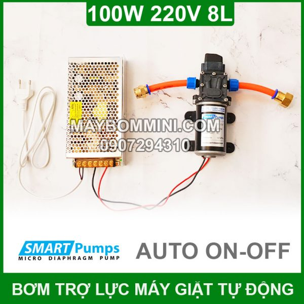 Bom Nuoc May Giat 220v 100w Tu Dong