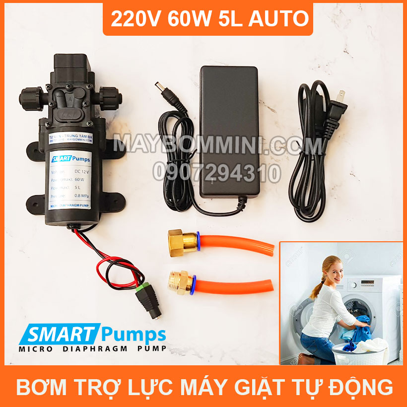Bom Nuoc Tu Dong To Luc May Giat Gia Dinh 220v 60w