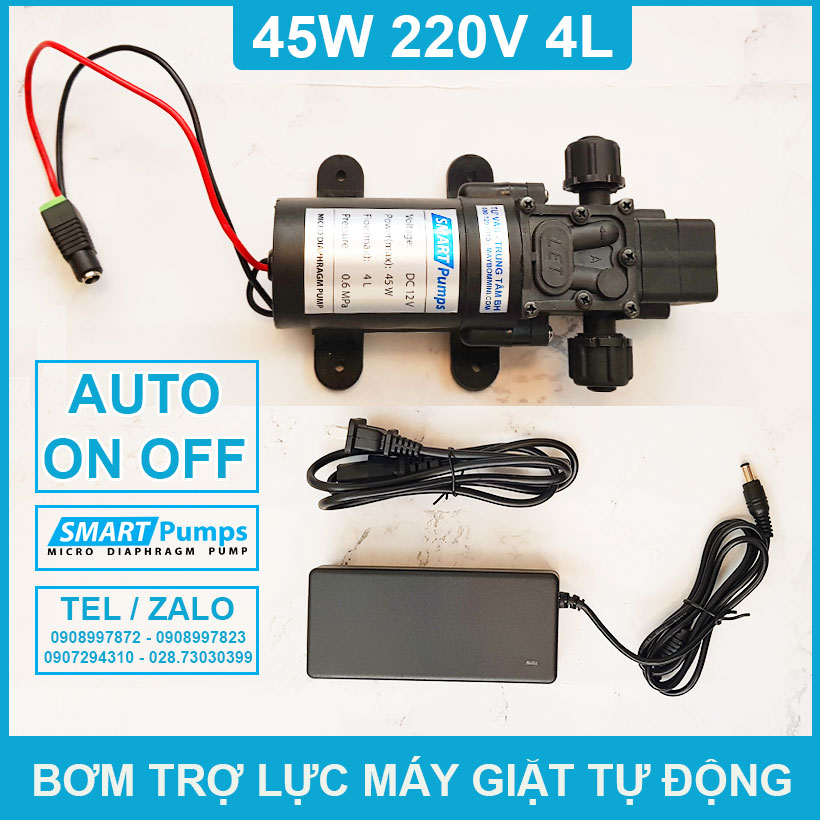 Bom Tro Luc Nuoc May Giat Tu Dong 220v