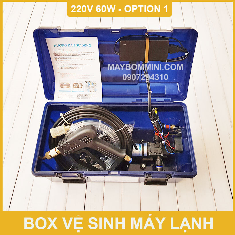 Hop Xit Rua Xe Ve Sinh May Lanh 220v 60w 5L