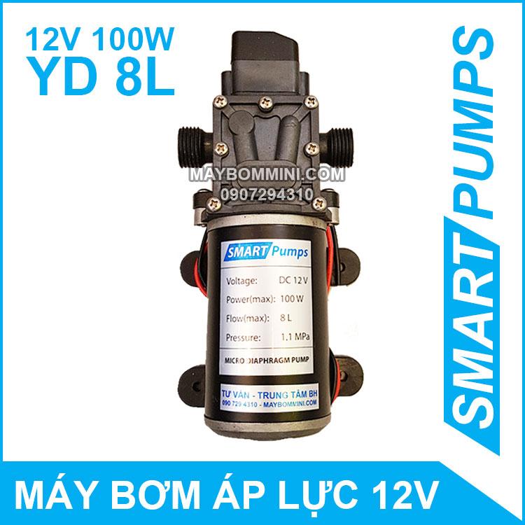 May Bom Mini Ap Luc 12V 100W YD Smartpumps