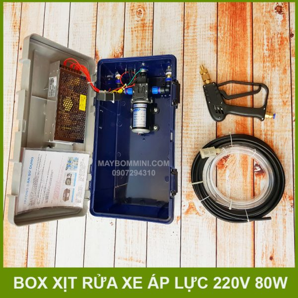 May Rua Xe Mini 220v 80w