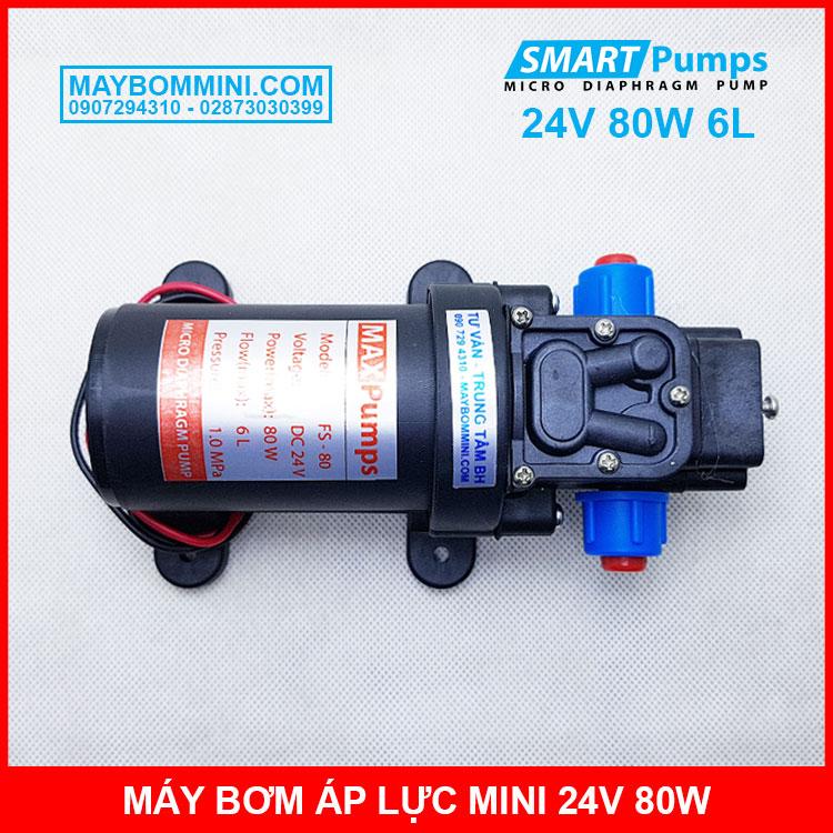 Bom Ap Luc Mini 24v 80w 6l Smartpumps Khong Cong Tac