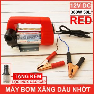 Lazada May Bom Xang Dau Nhot 12V 380W 50L Red