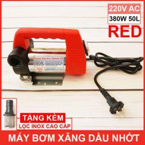 Lazada May Bom Xang Dau Nhot 220V 380W 50L Red