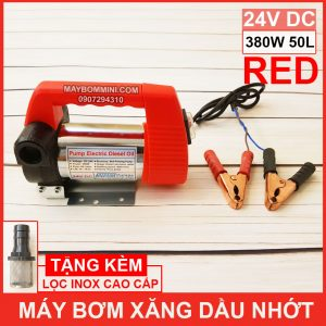 May Bom Xang Dau Nhot 24V 380W 50L Red