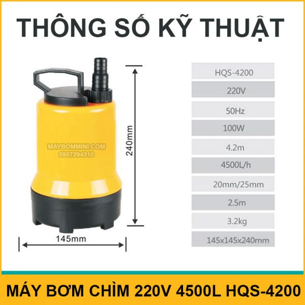 Thong So Ky Thuat May Bom Chim HQS 4200