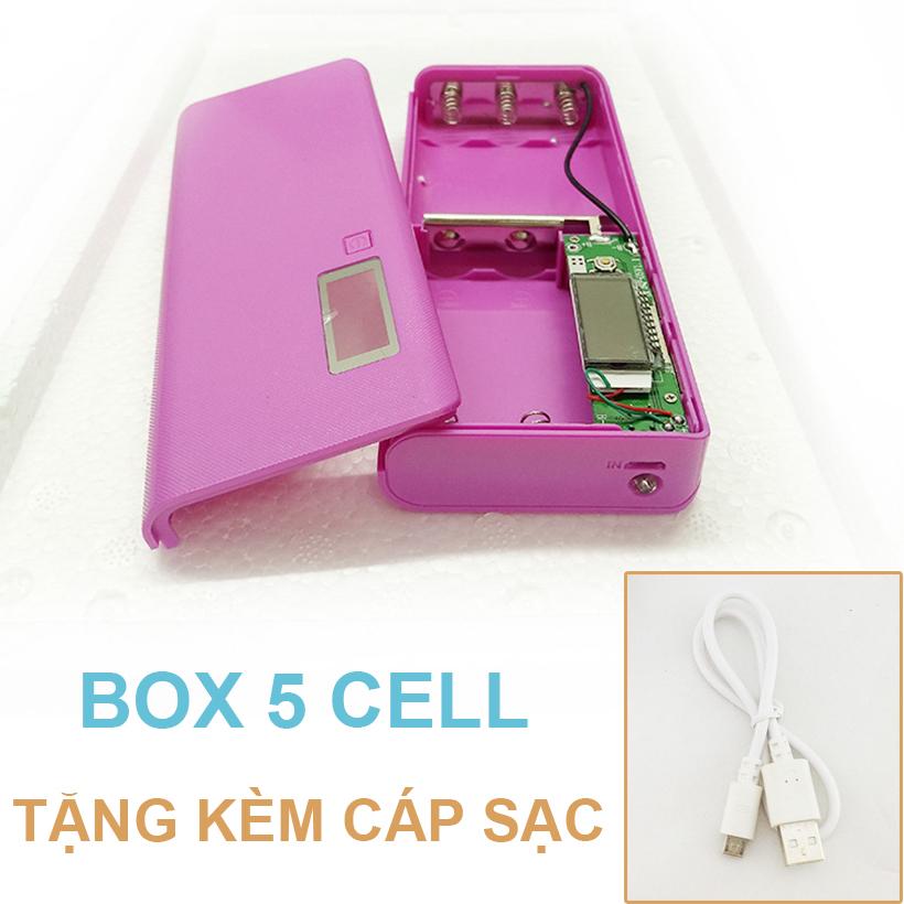 Pin Du Phong 5 Cell Mau Hong Tang Cap Sac