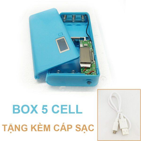 Pin Du Phong 5 Cell Mau Xanh Duong