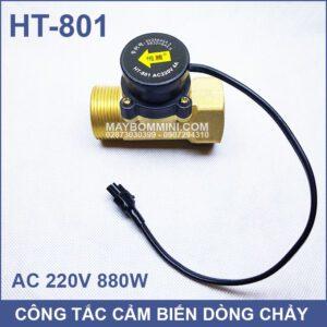 Cong Tac Cam Bien Dong Chay May Bom Nuoc 220V HT 801