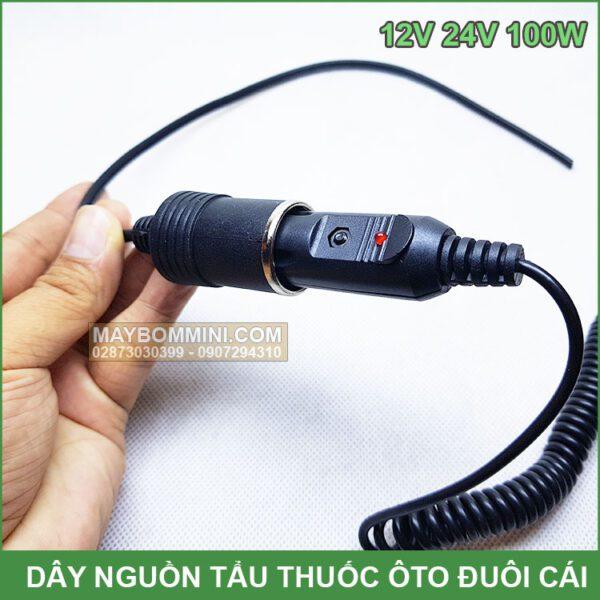 Dau Cam Dien Xe Oto 12v 24v 100w