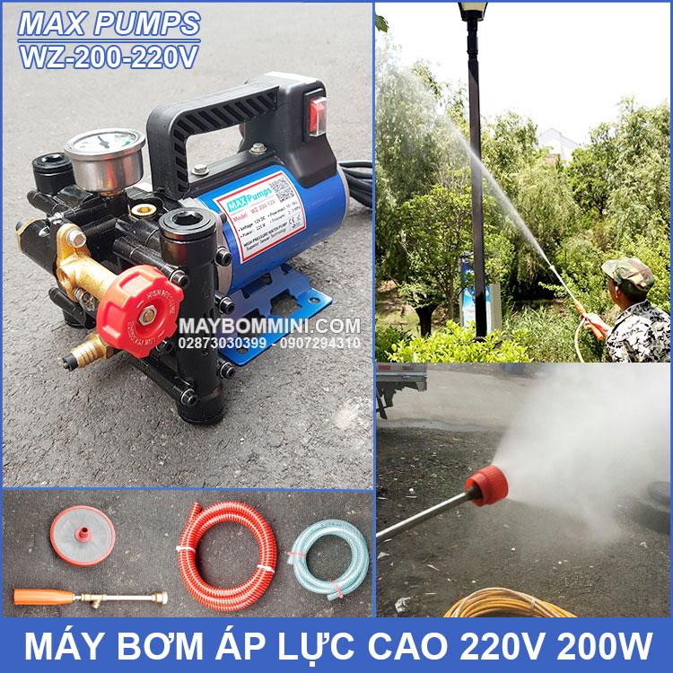 May Bom Ap Luc Cao 220V WZ 200 Maxpumps