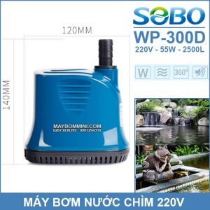 Ban May Bom Chim Ho Ca Be Ca Ao Ca 220V SOBO WP 300D Chinh Hang