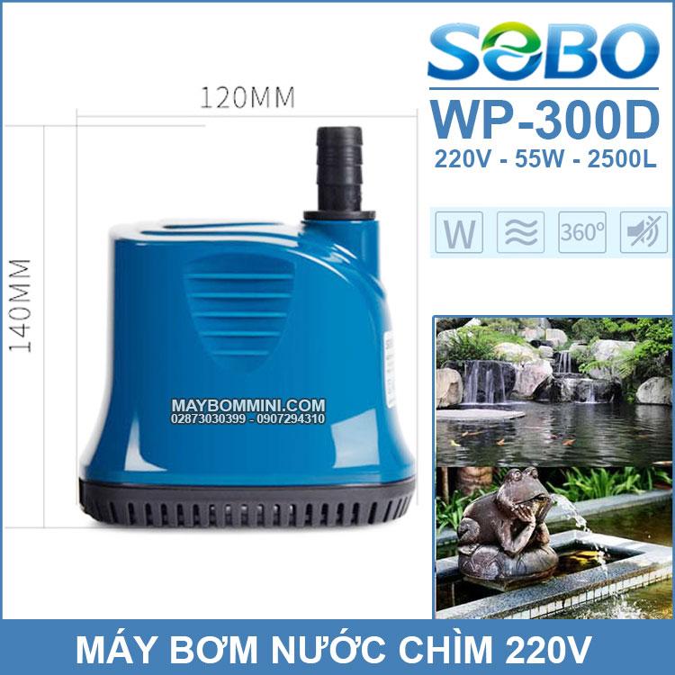 Ban May Bom Chim Ho Ca Be Ca Ao Ca 220V SOBO WP 300D Chinh Hang
