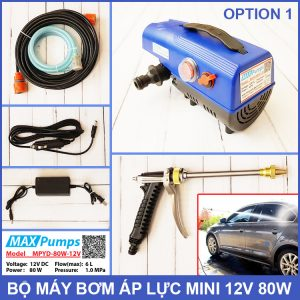 Bo May Bom Ap Luc Mini 12V 80W Maxpumps MPYD 80W 12V OPTION 1