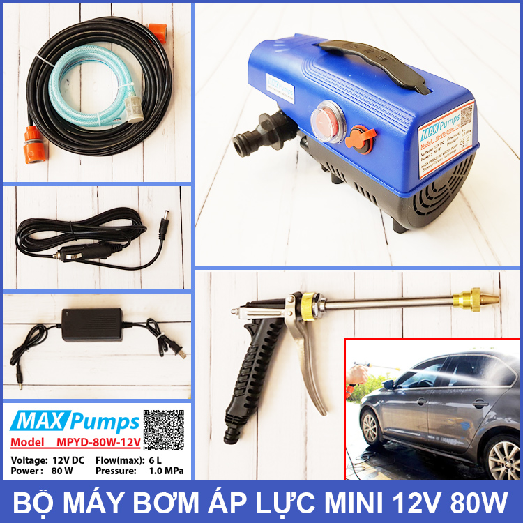 Bo May Bom Ap Luc Mini 12V 80W Maxpumps MPYD 80W 12V