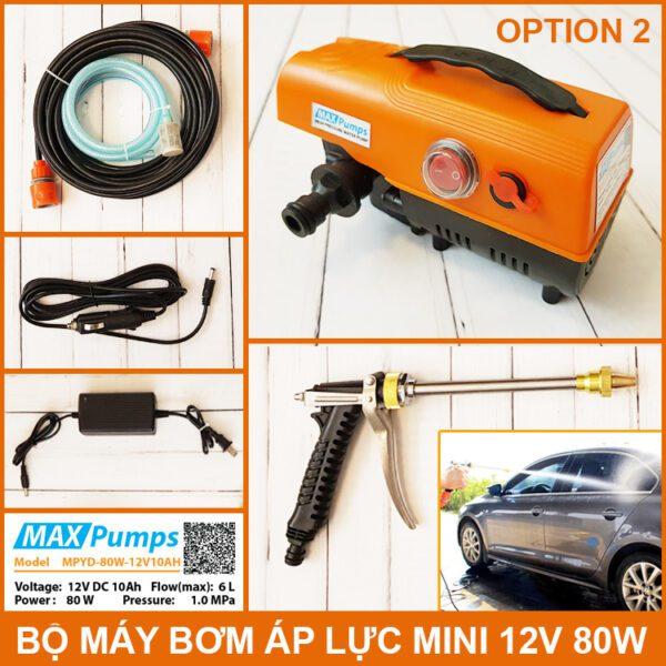 Bo Rua Xe Ap Luc Mini 12v 80w 10ah OPTION 2