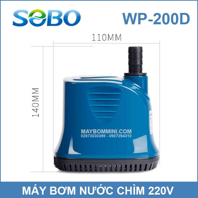 Kich Thuoc May Bom Chim SOBO 200D