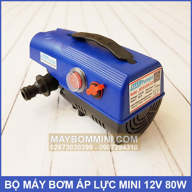 May Bom Rua Xe Mini 12v 80w Maxpumps