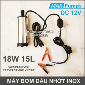 May Bom Dau Nhot 12V 15L DO Inox