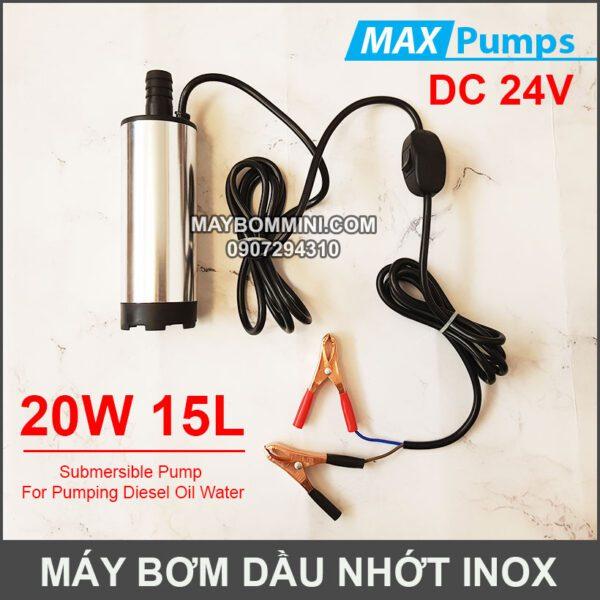 May Bom Dau Nhot 24V 15L DO Inox